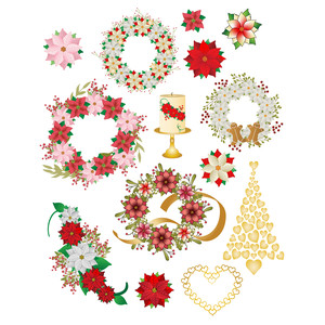 christmas wreaths planner stickers