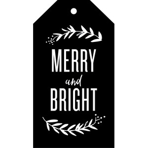 merry & bright gift tag - christmas