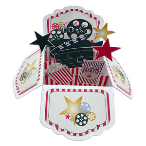 5x7 movie night pop up card in a box