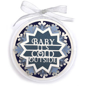 baby its cold outside christmas ornament