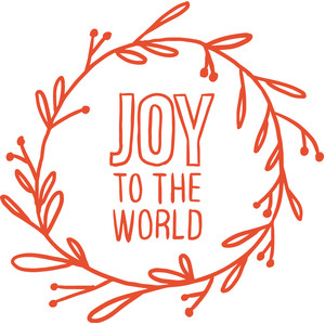 joy to the world wreath