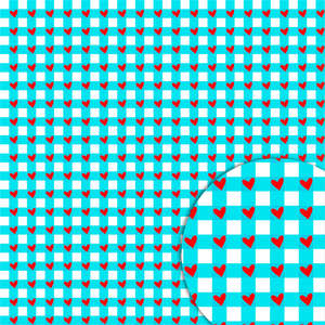 plaid hearts blue pattern