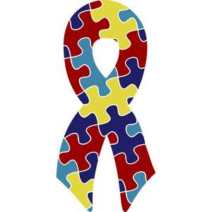 autism puzzle piece ribbon