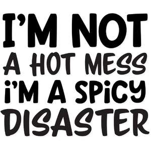 i'm not a hot mess i'm a spicy disaster