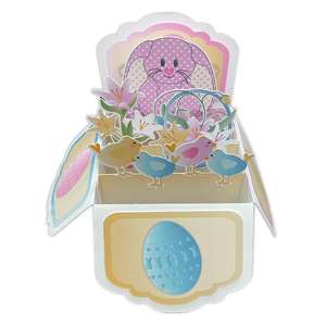 bunny popup card in a box