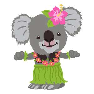 koala hula dancer