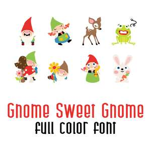 gnome sweet gnome full color font