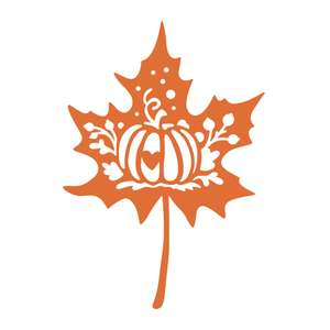 maple leaf with pumpkin