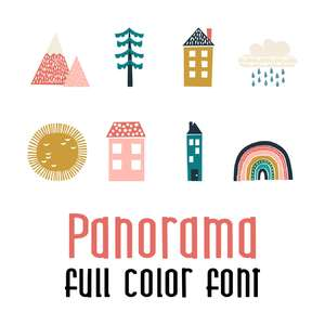 panorama full color font