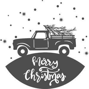 merry christmas truck sign