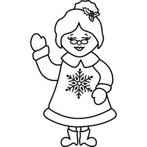 ms claus outline