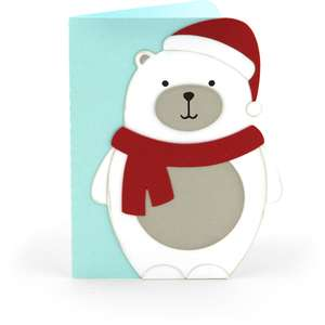 a2 christmas card polar bear