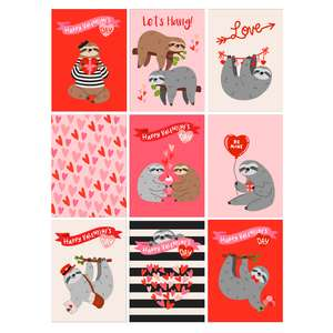 sloth valentine's day cards