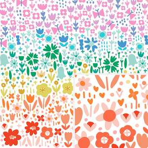 rainbow flower field pattern