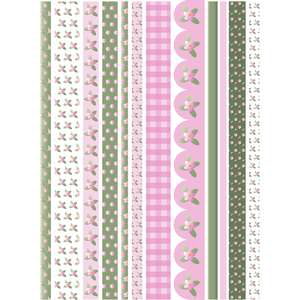 spring flowers washi sticker tape