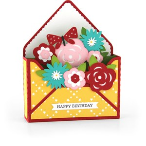 box card envelope flowers