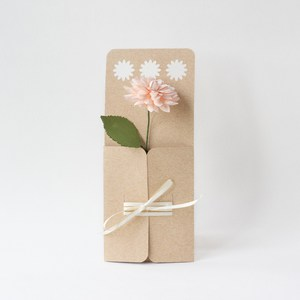 daisy flower envelope with ribbon closure by farren celeste