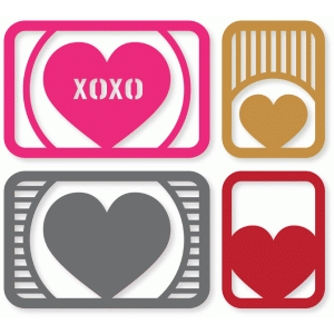 hearts & stripes cards