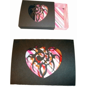 heart cut match box