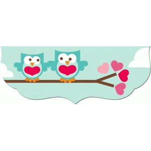 2 owl valentine treat bag topper