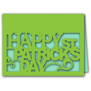 happy st. patrick's day a2 card