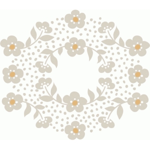 basic grey floral wreath