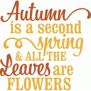 'autumn is a second spring' vinyl phrase