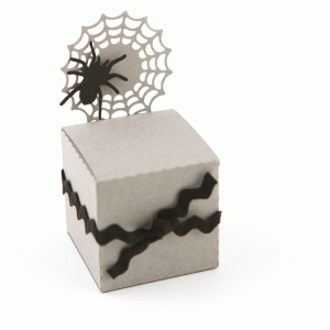 3d halloween spider web treat box