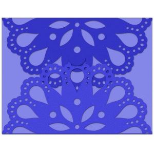 a2 gate fold card lace flower