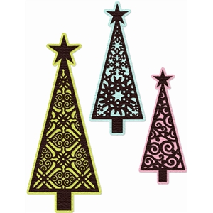 Christmas tree trio