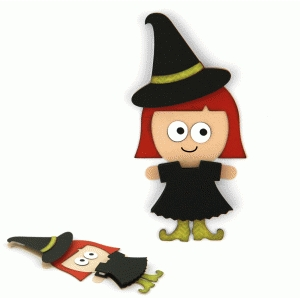 halloween witch layered embellishment