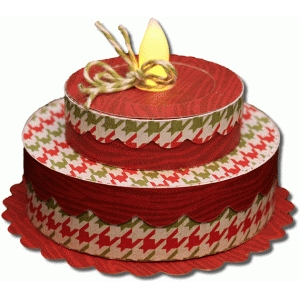 3d double tier birthday cake tealight