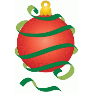 wrapped in ribbon christmas ornament