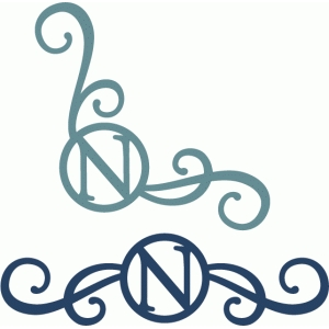 monogram seal flourishes n