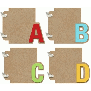 3x4 mini album abcd set