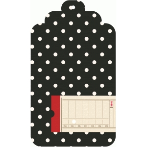 polka dot ticket tag