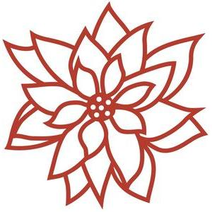 poinsettia papercut