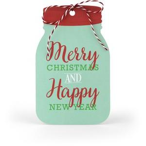 merry christmas mason jar tag