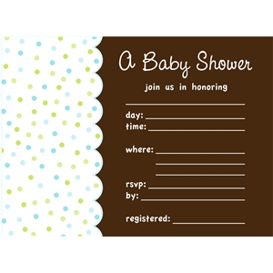boy baby shower invite