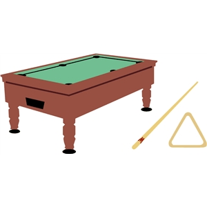 pool table and items