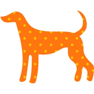 dog tall dotted
