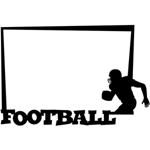 Silhouette Design Store View Design 16260 Football Frame