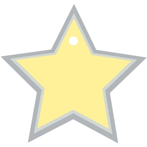metal tag star