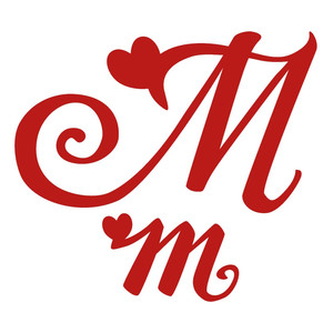 m romantic monogram