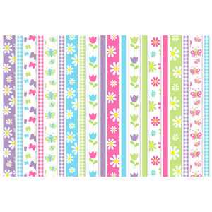 butterflies and flowers washi tape set