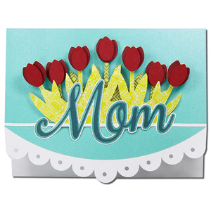 mom tulips card