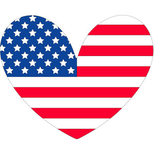 4th july heart - yankee doodle