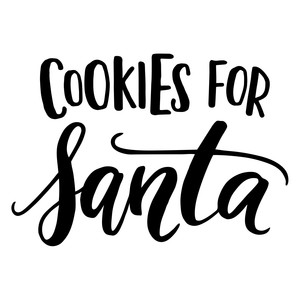 cookies for santa christmas phrase