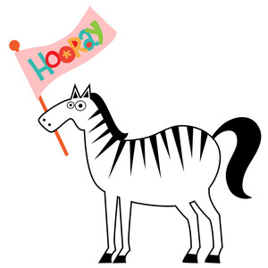 love pets party - zebra