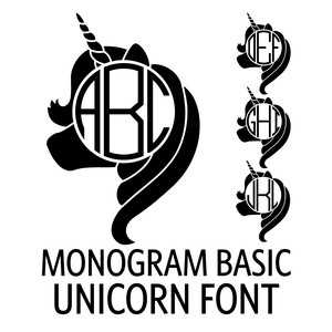 monogram basic - unicorn